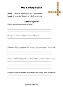 Eisbergmodell_Arbeitsblatt
