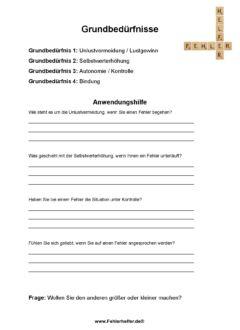 Grundbedürfnisse_Arbeitsblatt