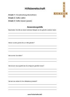 Hilfsbereitschaft_Arbeitsblatt