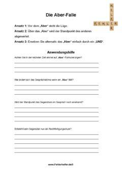 Ja Aber Falle_Arbeitsblatt