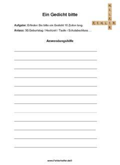 Anfängerfehler_Gedicht oder Rechtschreibfehler _Arbeitsblatt