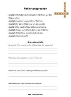 K640_Fehler ansprechen_Arbeitsblatt